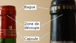 déboucher vin découper bague bouteille