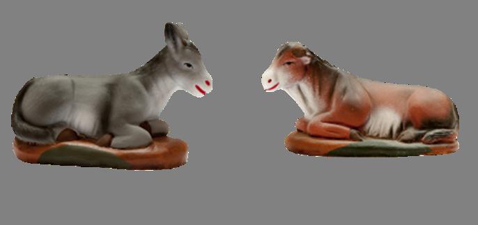 ane et bœuf santons provençaux