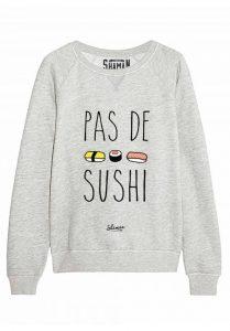 pull sushi pour Noël