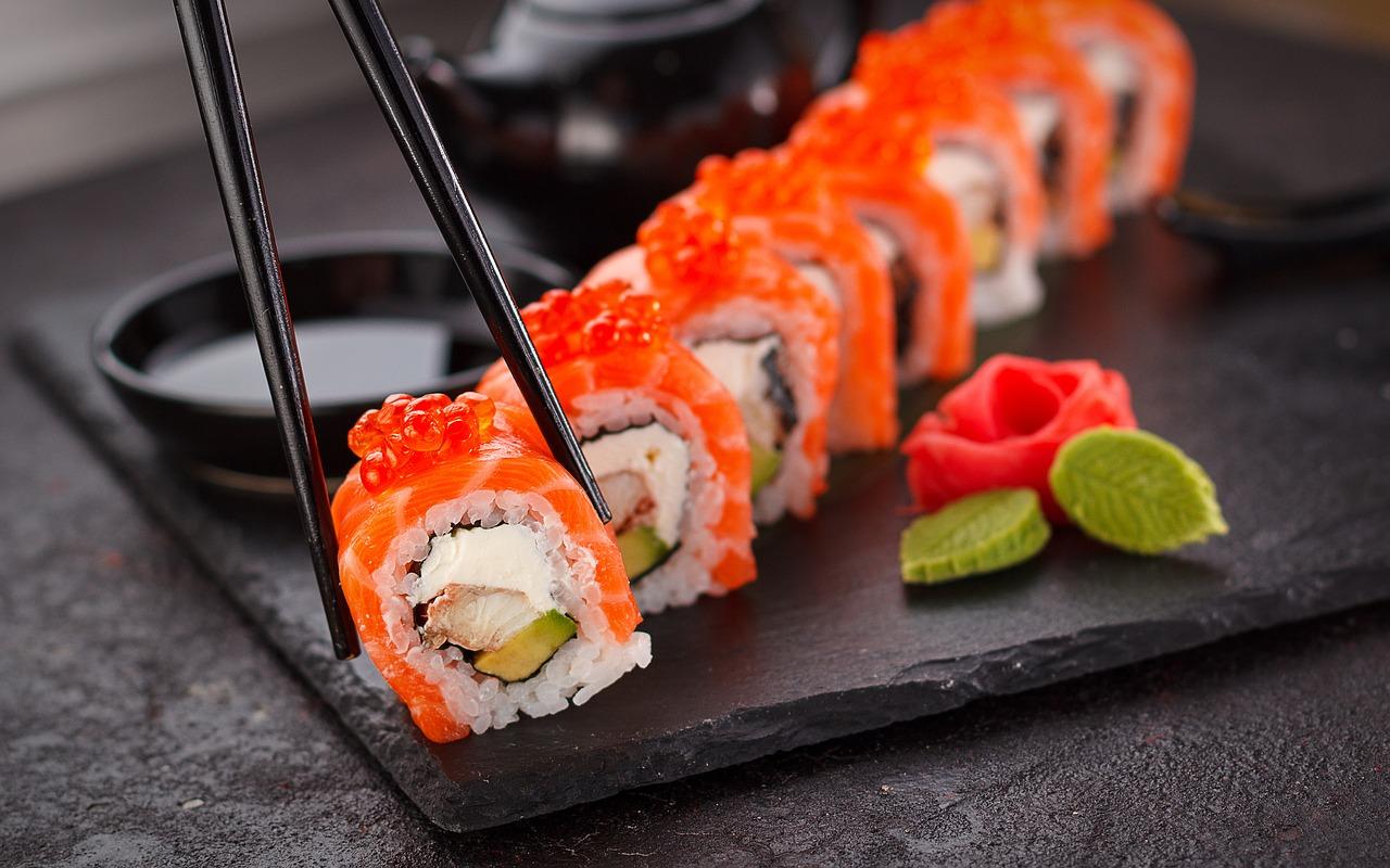 manger des sushis