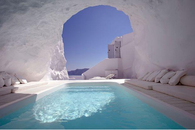 piscine de reve dans une grotte
